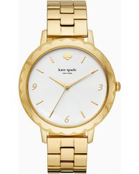 Kate Spade Morningside Scallop Gold-tone Bracelet Watch - Metallic