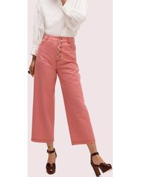 Kate Spade Heather Basket Weave Pant - Red