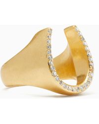 Kate Spade - Wild Ones Pave Horseshoe Ring - Lyst