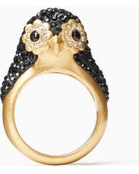 Kate Spade - Dashing Beauty Penguin Ring - Lyst