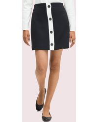 Kate Spade Colorblock Button-through Skirt - Black