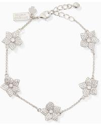 Kate Spade - Blooming Pave Bloom Bracelet - Lyst