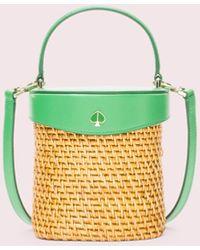 Kate Spade Rose Mini Bucket Bag - Green
