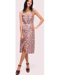 Kate Spade Panthera Jacquard Midi Dress - Pink
