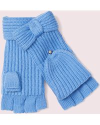 Kate Spade Bow Pop Top Gloves - Blue