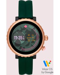 Kate Spade Sport Scalloped Pink Silicone Strap Touchscreen Smart Watch 41mm, Powered By Wear Os By Googletm