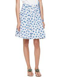 Kate Spade Starfish Cotton Skirt - Blue