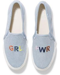 Keds Double Decker Embroidery - Blue
