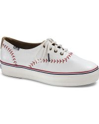 Keds Triple Pennant Leather - White