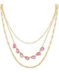 Kendra Scott Susanna Gold Multi Strand Necklace - Metallic