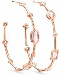 Kendra Scott Mei 14k Rose Gold Hoop Earrings - Metallic
