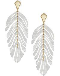 Kendra Scott - Lotus Gold Statement Earrings - Lyst