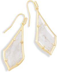 Kendra Scott - Olivia Drop Earrings In Rock Crystal - Lyst