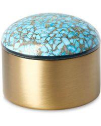 Kendra Scott Mini Decorative Brass Dome Box - Blue