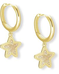 Kendra Scott Jae Star Gold Huggie Earrings - Metallic