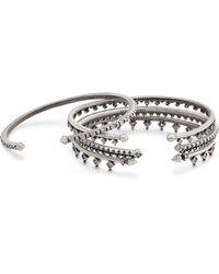 Kendra Scott - Delphine Pinch Bracelet Set In Antique Silver - Lyst