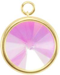 Kendra Scott Radial Disc Gold Charm - Multicolor
