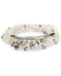 Kendra Scott - Supak Silver Beaded Bracelet Set Ivory Mother Of Pearl Mix - Lyst