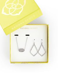 Kendra Scott - Sophia Earrings And Elisa Necklace Set In Silver - Lyst