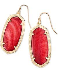 Kendra Scott - Elle Gold Drop Earrings In Red Mother Of Pearl - Lyst