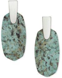 Kendra Scott - Aragon Silver Drop Earrings - Lyst