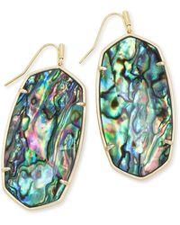 Kendra Scott - Faceted Danielle Gold Statement Earrings - Lyst