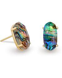 Kendra Scott - Betty Stud Earrings In Abalone Shell - Lyst