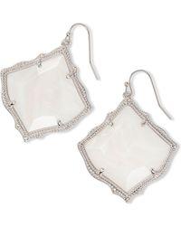 Kendra Scott - Kirsten Silver Drop Earrings In White Pearl - Lyst