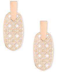 Kendra Scott - Aragon Gold Drop Earrings - Lyst