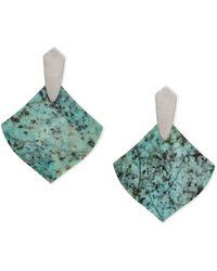 Kendra Scott - Astoria Silver Drop Earrings - Lyst
