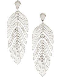Kendra Scott - Lotus Statement Earrings - Lyst