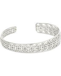 Kendra Scott Uma Cuff Bracelet In Silver - Metallic
