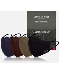 Kenneth Cole Cotton Face Mask - 14 Pack - Black