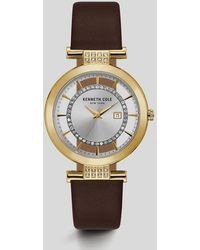 Kenneth Cole - Transparent Genuine Leather Two-tone Watch - Lyst