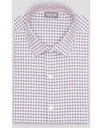Kenneth Cole Reaction Techni-cole Square Print Dress Shirt - Multicolor