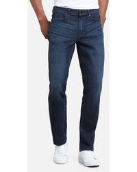 Kenneth Cole Straight Leg Jeans In Indigo Wash - Blue
