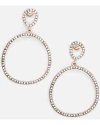 Kenneth Cole - Rose Gold-tone Jeweled Drop Earrings - Lyst