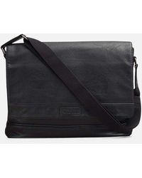 Kenneth Cole Top-flap Messenger Bag - Black