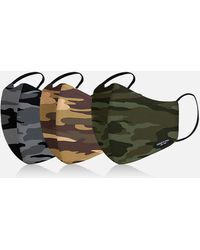 Kenneth Cole Premium Camo Cotton Face Mask For Adults - 3 Pack - Multicolor
