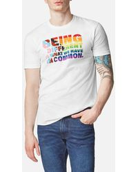 Kenneth Cole Men's Being Different Pride Tee - White