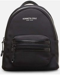 Kenneth Cole Kam Mid Backpack With Tech Pocket - Black