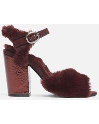 Kenneth Cole Melanie Faux Fur Sandal - Multicolor