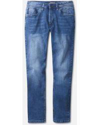 Kenneth Cole Classic Stretch Jean In Atlantic Wash - Blue