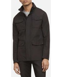Kenneth Cole Utility Jacket With Fold-out Hood - Black