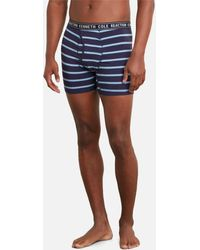 Kenneth Cole - Logo Striped Boxer Briefs - Three Pack - Lyst