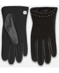 Kenneth Cole - Cinched Short Gloves In Suede - Lyst