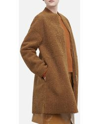 Kenneth Cole Reversible Shearling Jacket - Brown
