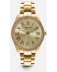 Kenneth Cole - Classic Gold-tone Round Watch - Lyst