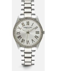Kenneth Cole - Classic Silver-tone Round Watch - Lyst