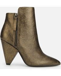 Kenneth Cole - Galway Zip Ankle Boot In Gold Metallic - Lyst